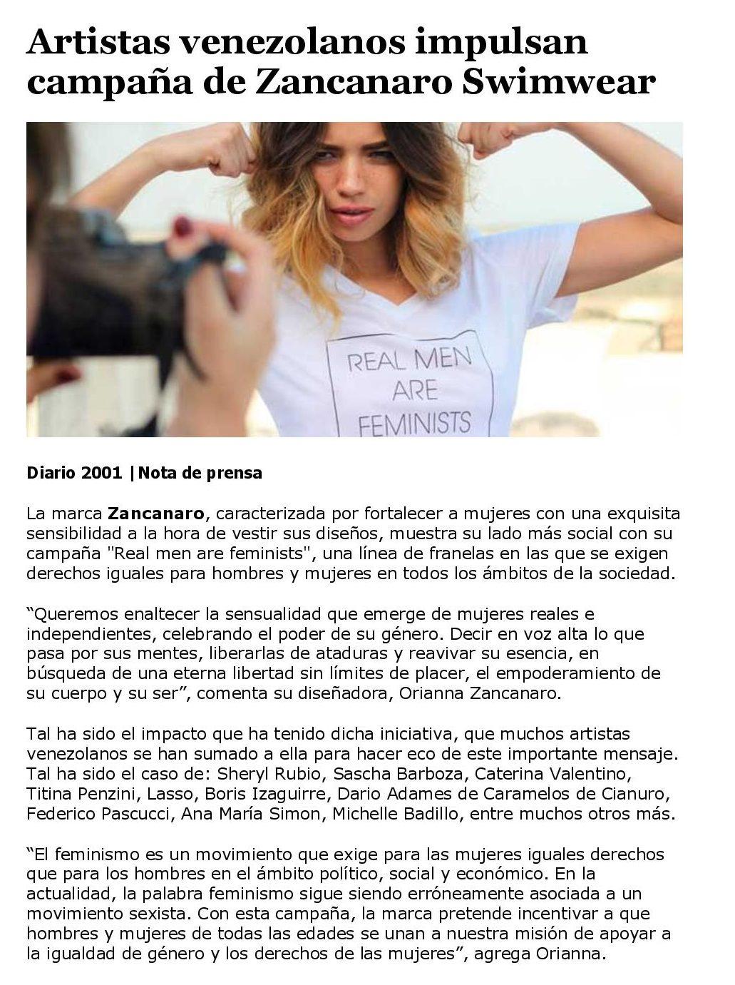 Artistas venezolanos impulsan campaña de Zancarano Swimwear - www.michellebadillo.com