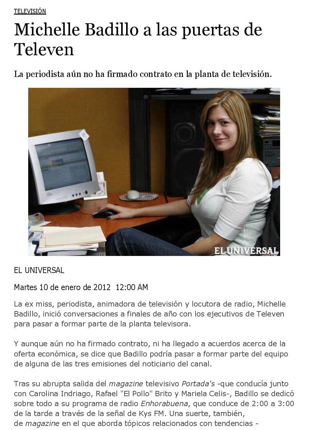 Michelle Badillo a las puertas de Televen - www.michellebadillo.com