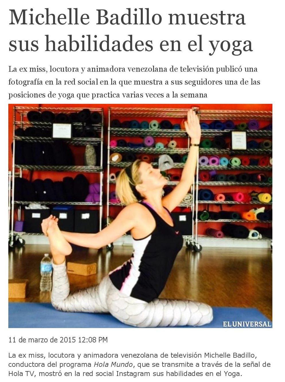 Michelle Badillo muestra sus habilidades en el yoga - www.michellebadillo.com